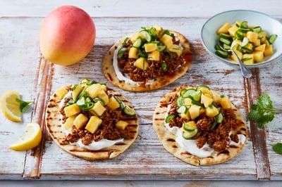 Tandoori Pork with Calypso® Mango & Qukes® Salsa